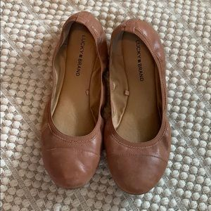 Lucky Brand ballet flat leather size 10